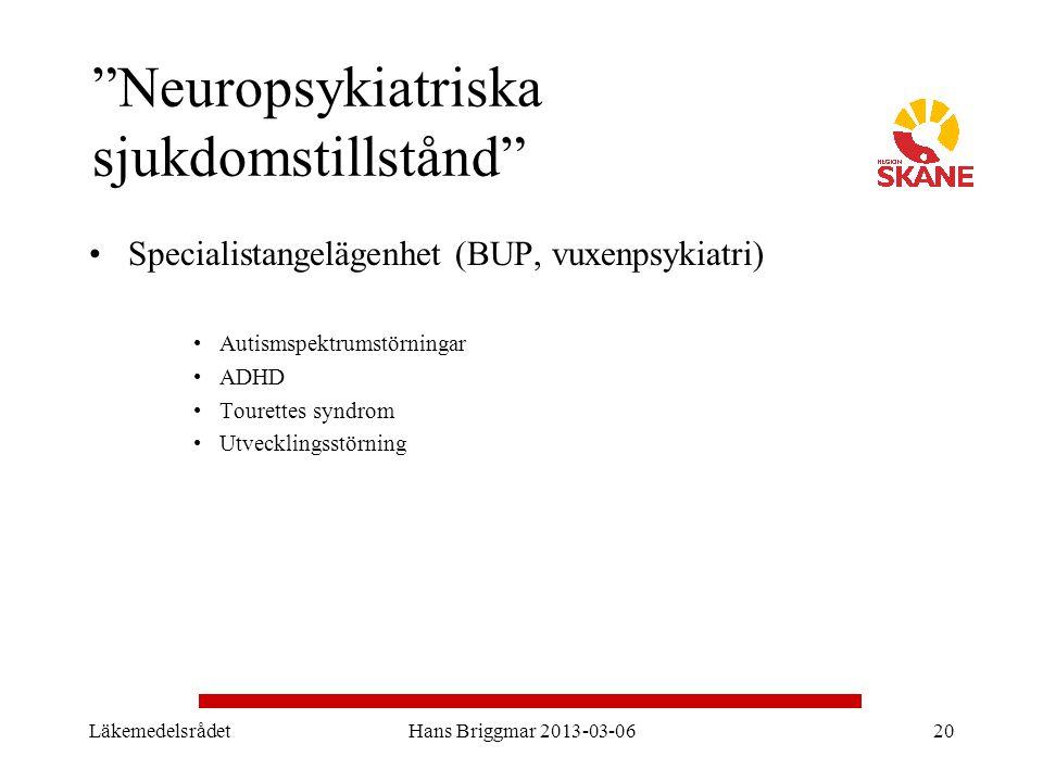 Neuropsykiatriska sjukdomstillstånd