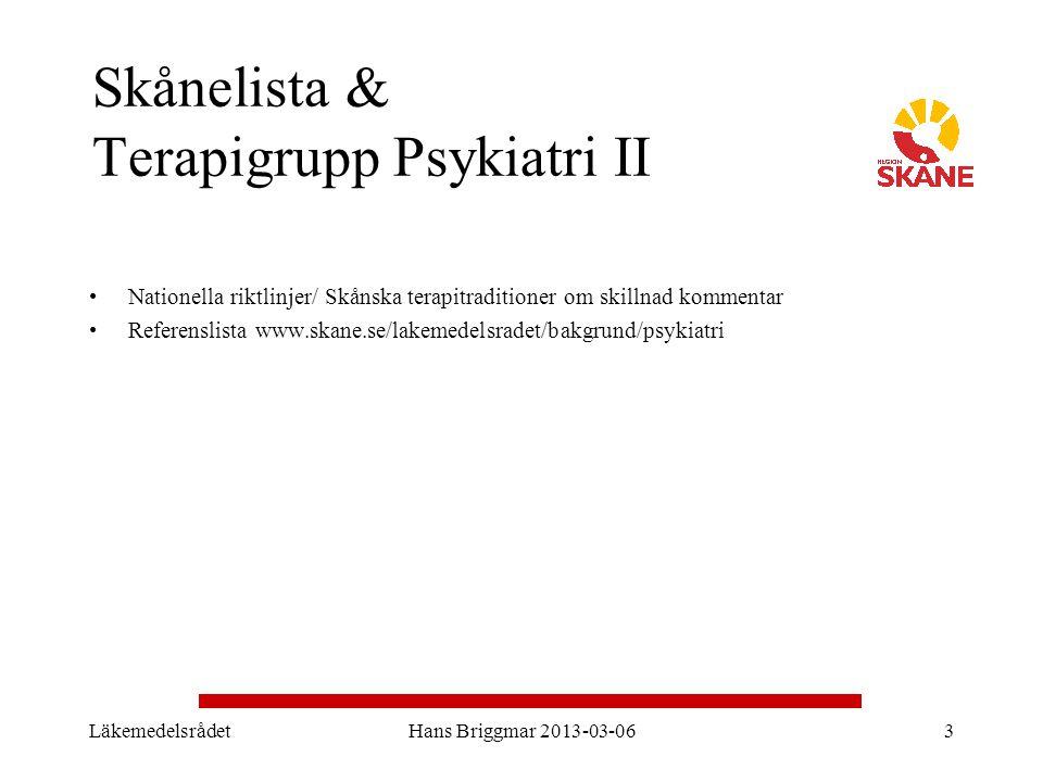 Skånelista & Terapigrupp Psykiatri II