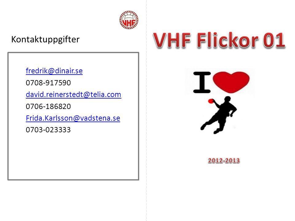 VHF Flickor 01 Kontaktuppgifter fredrik@dinair.se 0708-917590