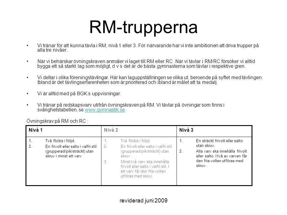 RM-trupperna reviderad juni 2009