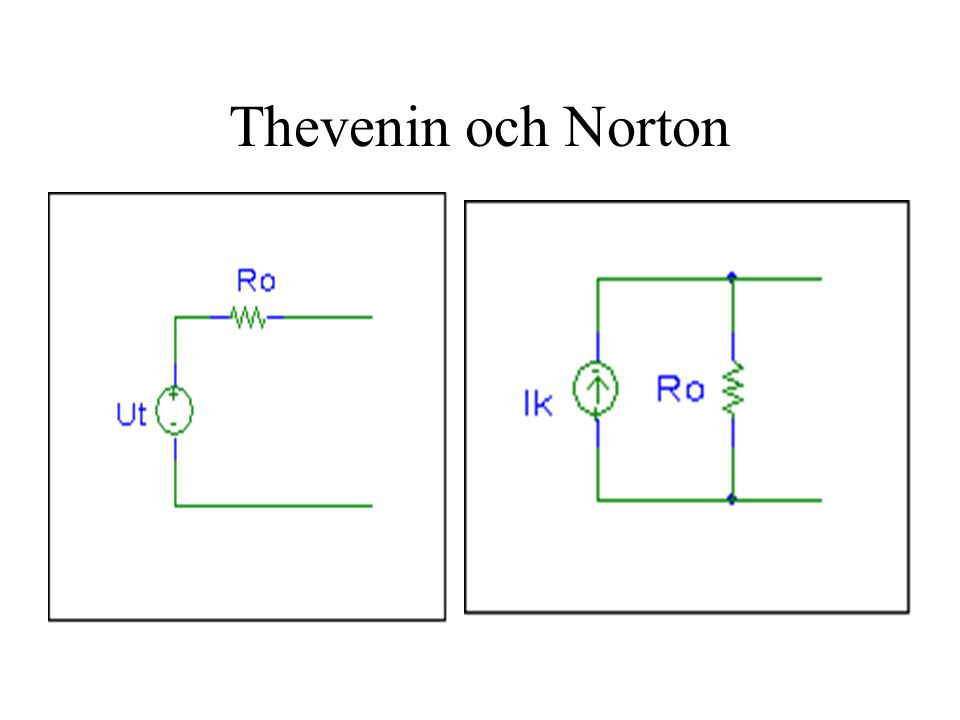 Thevenin och Norton