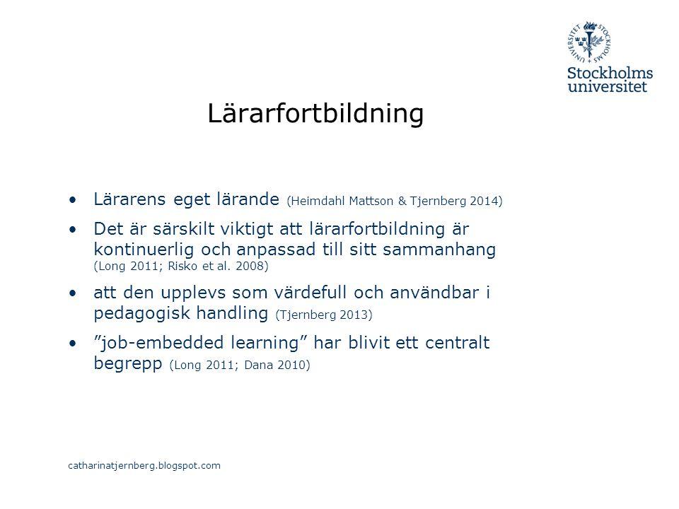 Lärarfortbildning Lärarens eget lärande (Heimdahl Mattson & Tjernberg 2014)