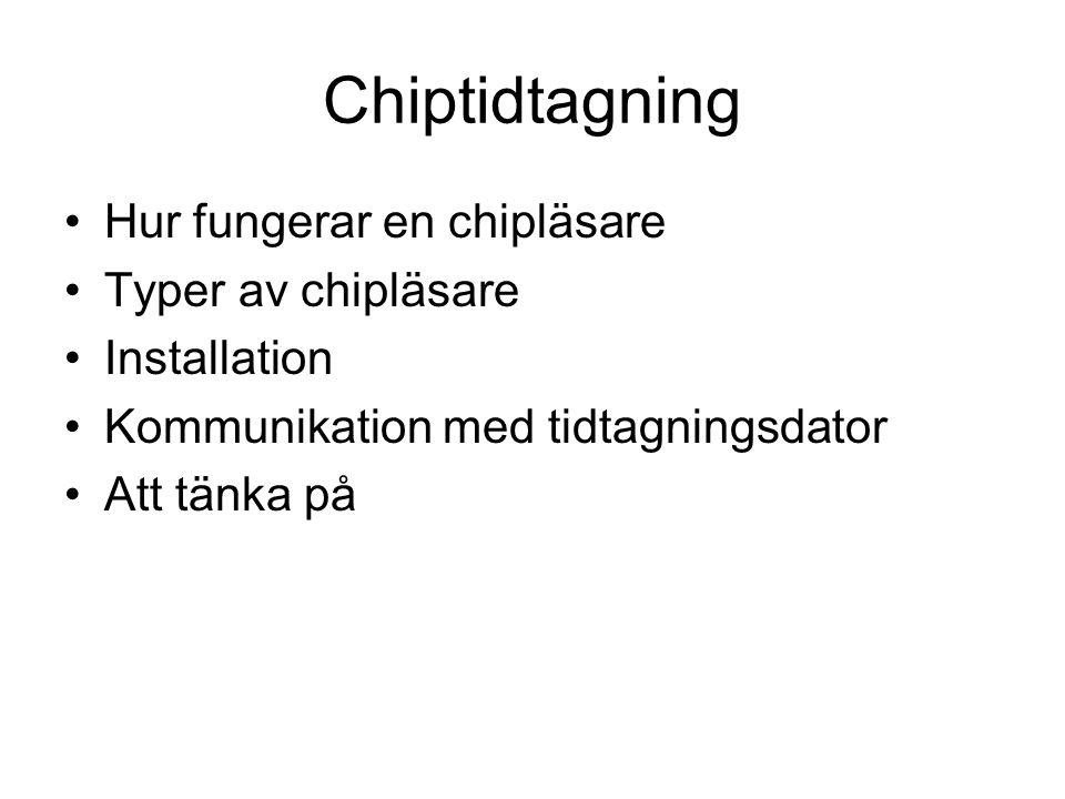 Chiptidtagning Hur fungerar en chipläsare Typer av chipläsare