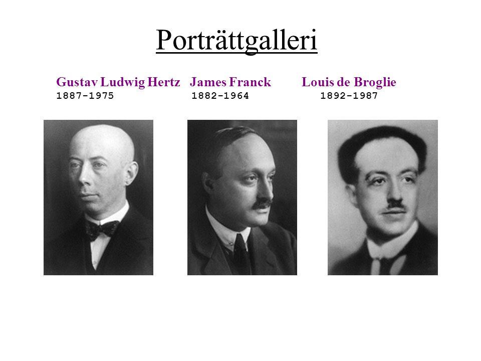 Porträttgalleri Gustav Ludwig Hertz James Franck Louis de Broglie