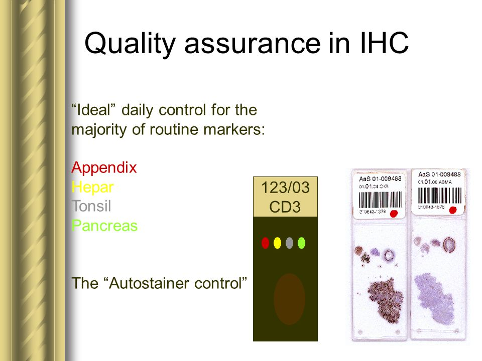Quality assurance in IHC