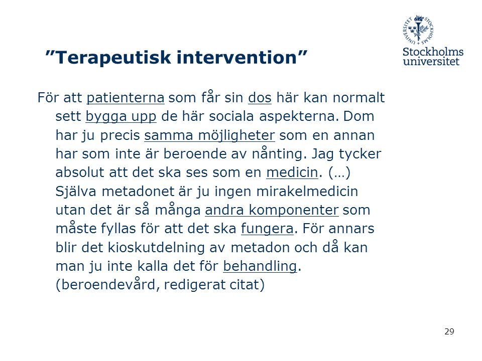 Terapeutisk intervention