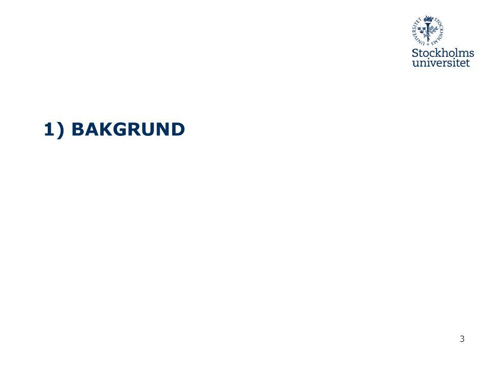 1) BAKGRUND