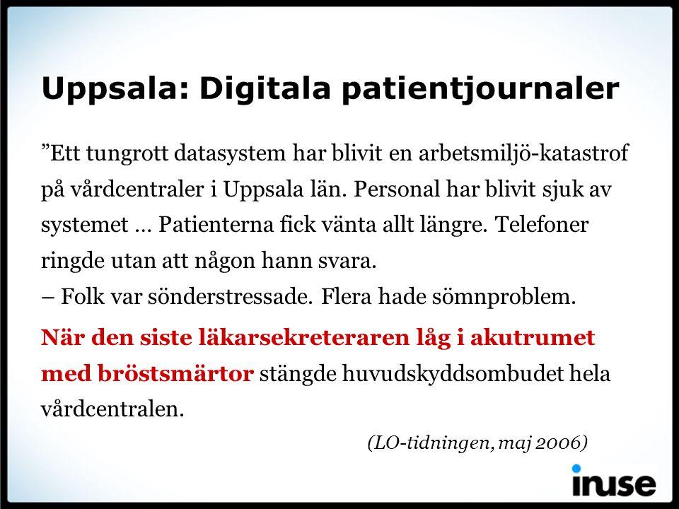 Uppsala: Digitala patientjournaler