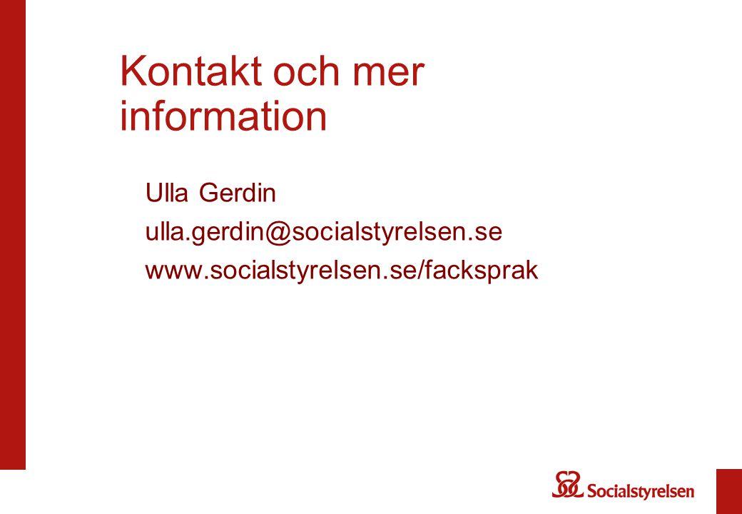 Kontakt och mer information