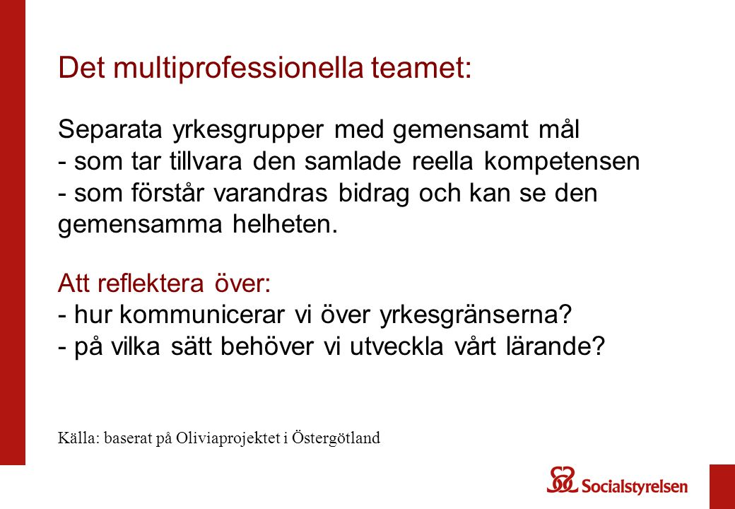 Det multiprofessionella teamet: