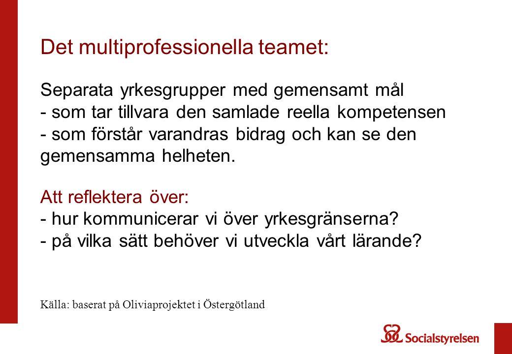 Det multiprofessionella teamet: