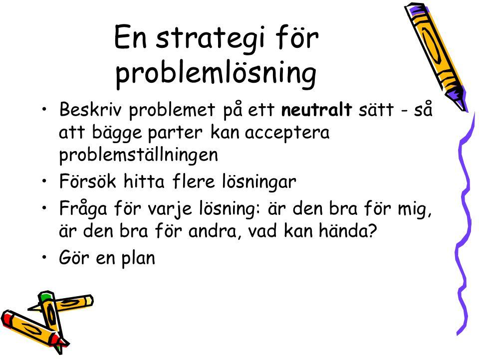 En strategi för problemlösning