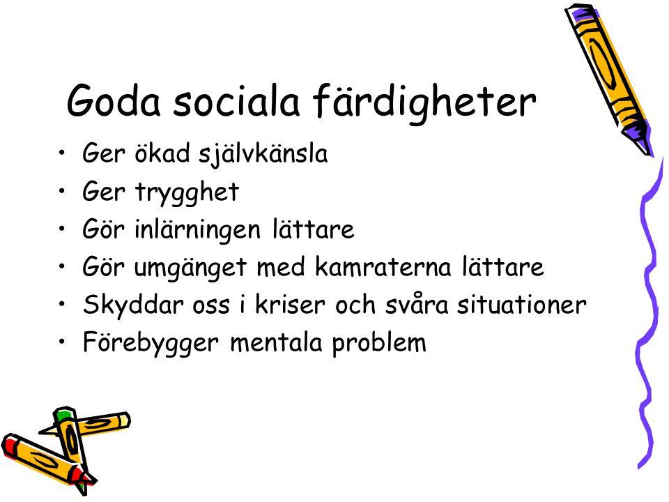 Goda sociala färdigheter