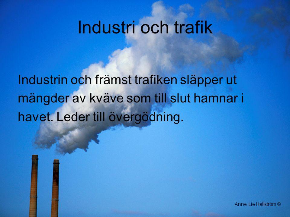Industri och trafik Industrin och främst trafiken släpper ut