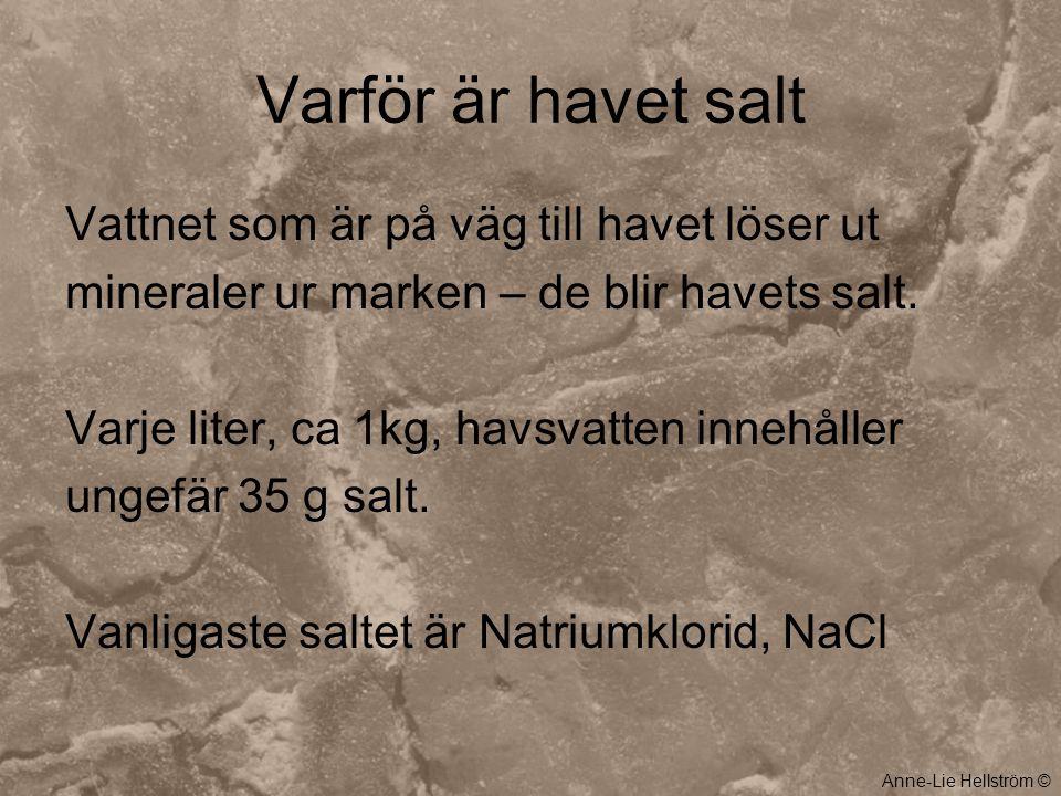 Varför är havet salt Vattnet som är på väg till havet löser ut