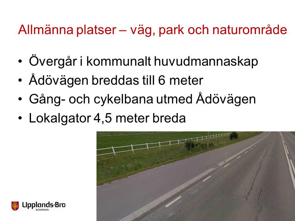 Allmänna platser – väg, park och naturområde