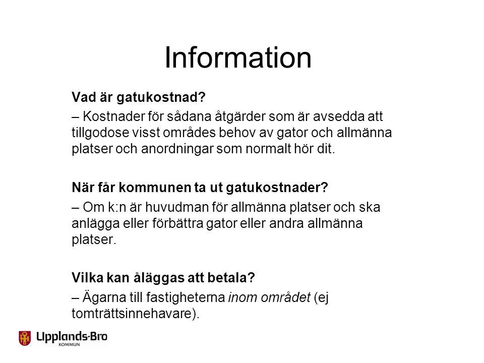 Information Vad är gatukostnad