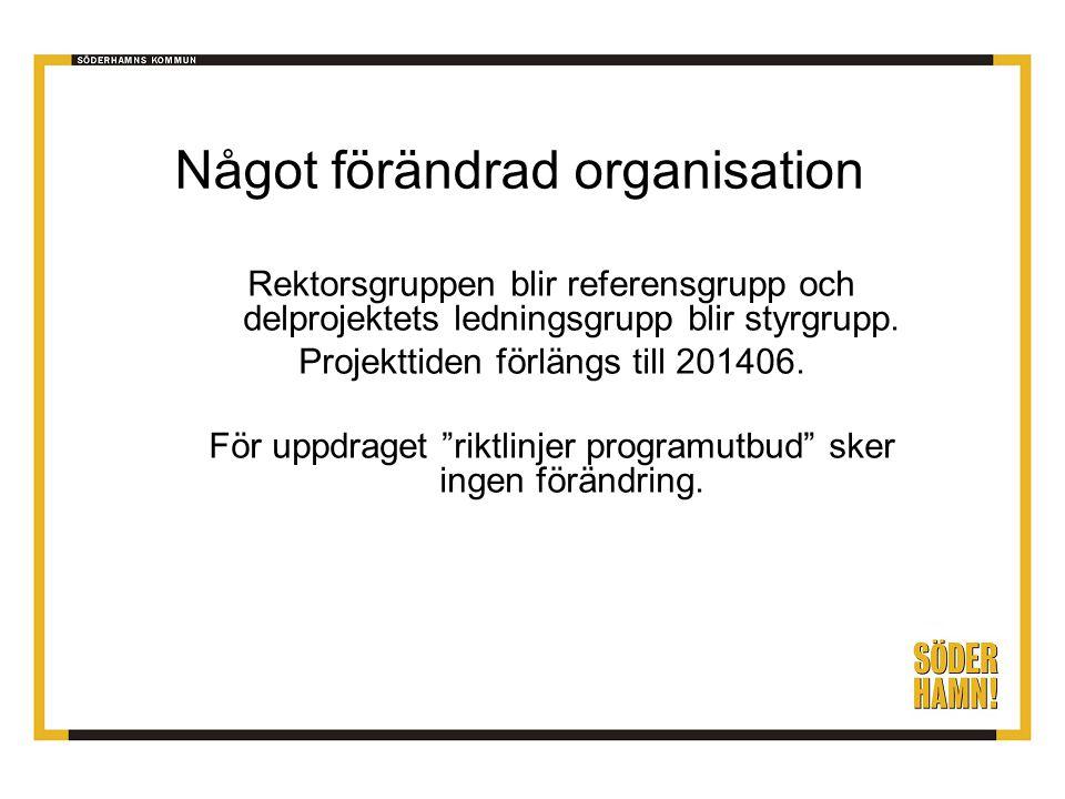Något förändrad organisation