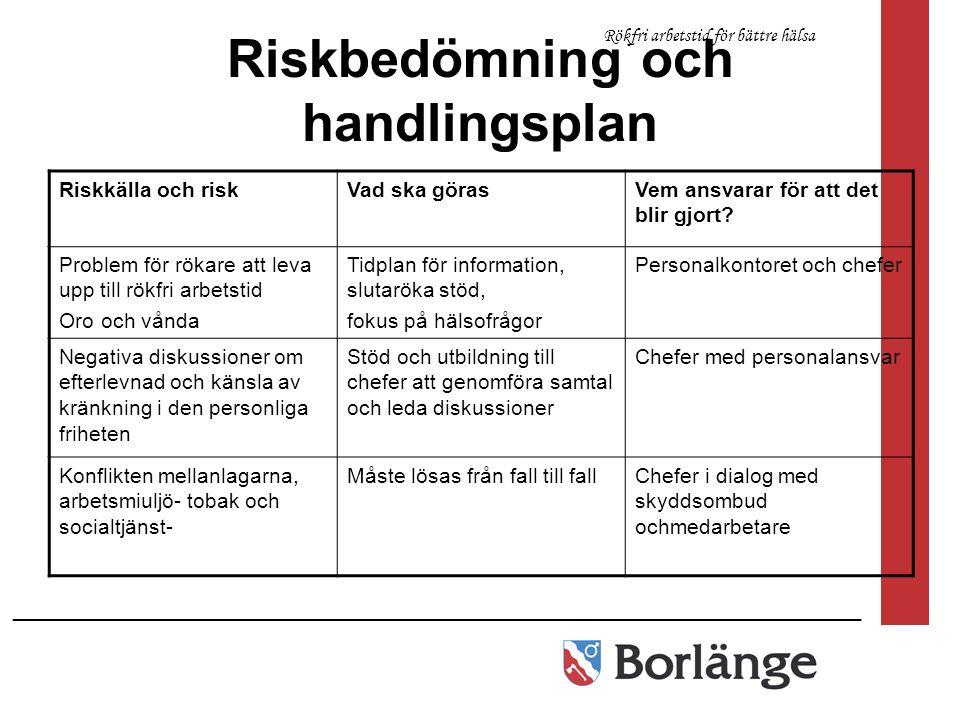 Riskbedömning och handlingsplan