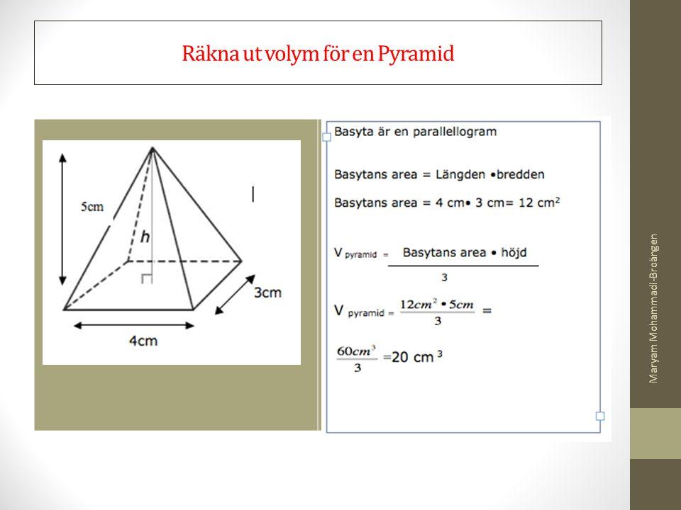 Räkna ut volym för en Pyramid
