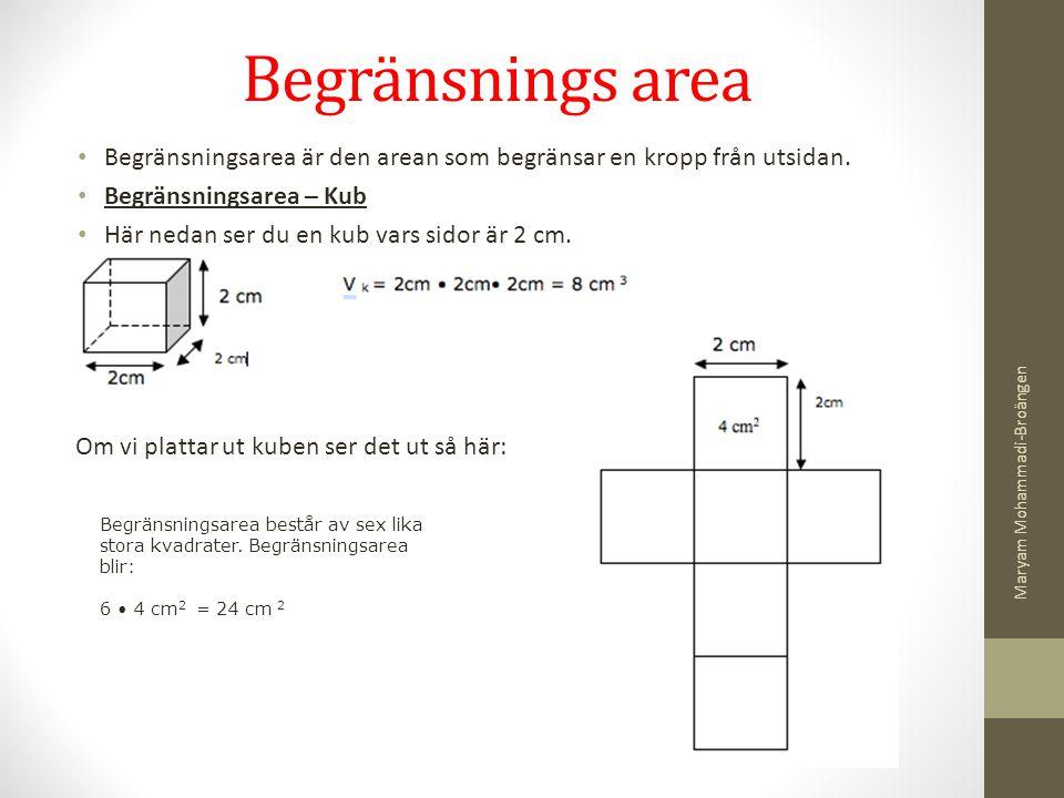 Begränsnings area V k = 2cm • 2c