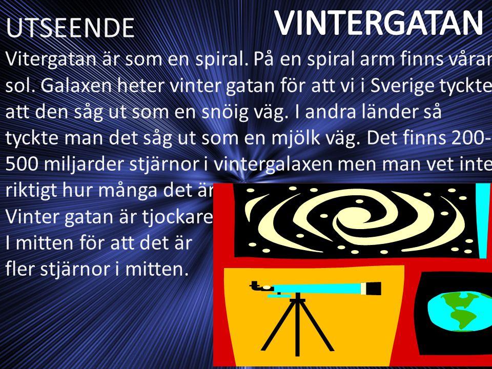 VINTERGATAN UTSEENDE.