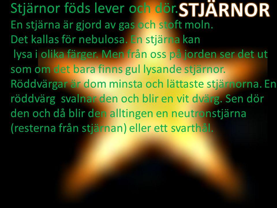 STJÄRNOR Stjärnor föds lever och dör.