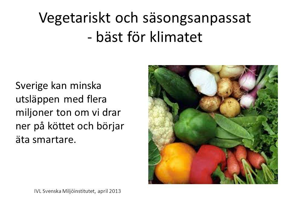 Vegetariskt och säsongsanpassat - bäst för klimatet