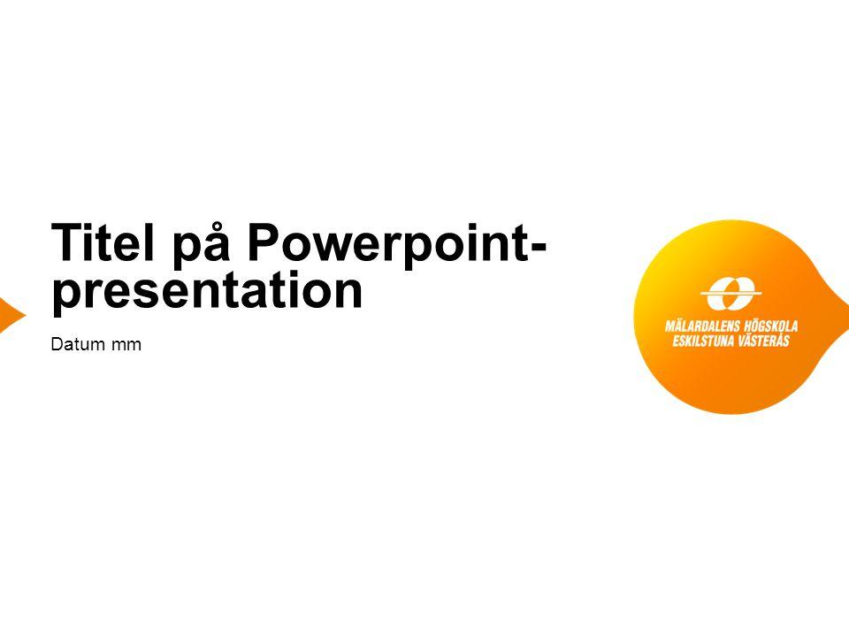 Titel på Powerpoint- presentation