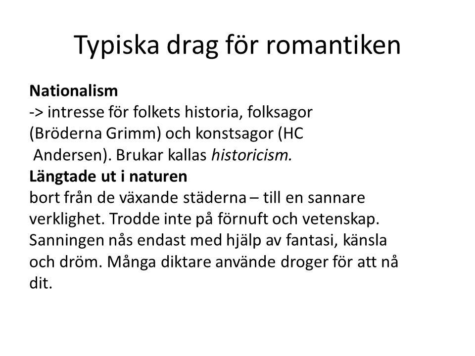 Typiska drag för romantiken