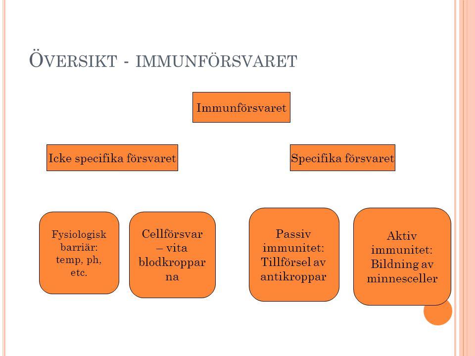 Översikt - immunförsvaret