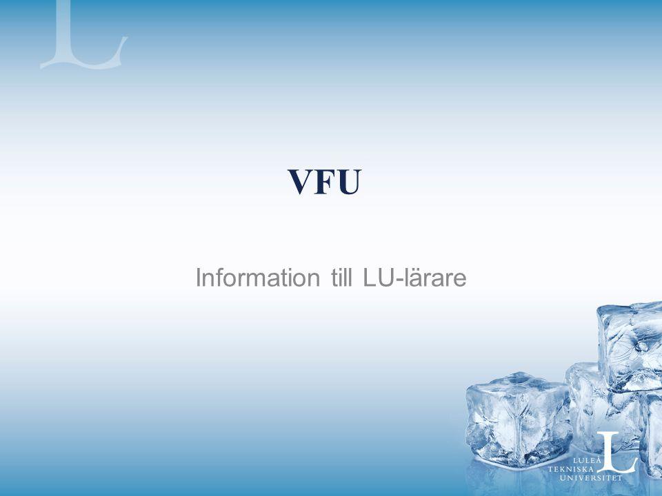 Information till LU-lärare