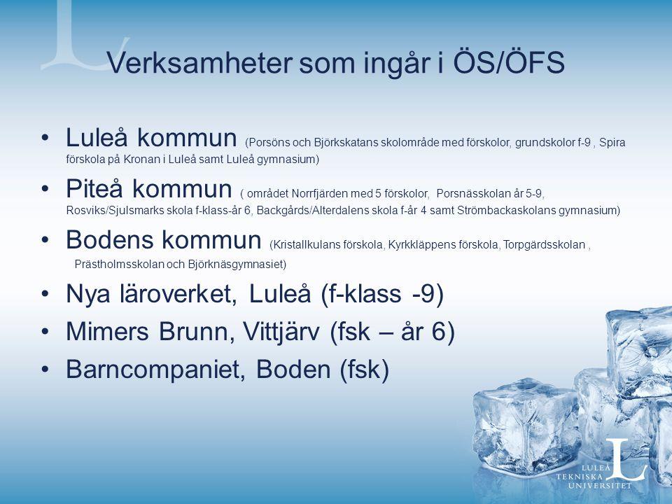 Verksamheter som ingår i ÖS/ÖFS