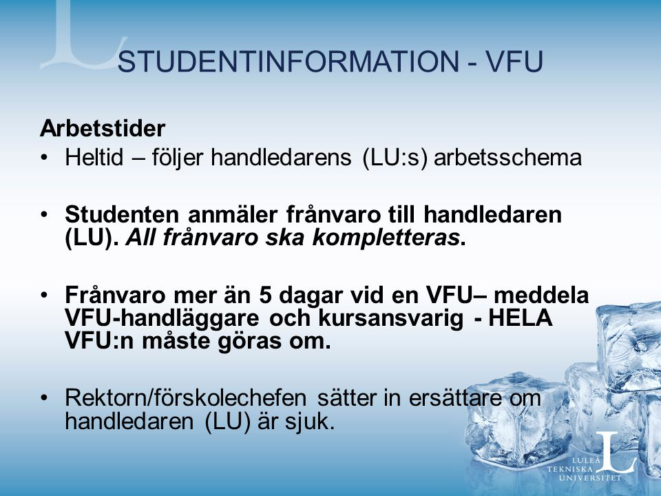 STUDENTINFORMATION - VFU