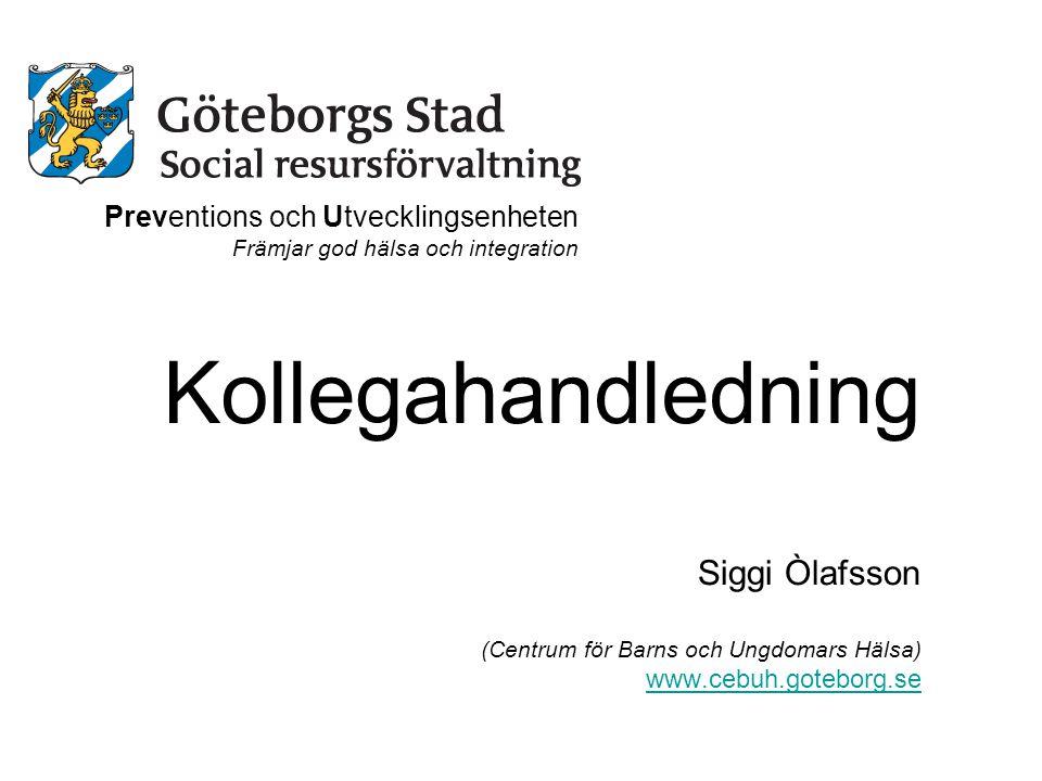 Kollegahandledning Siggi Òlafsson Preventions och Utvecklingsenheten