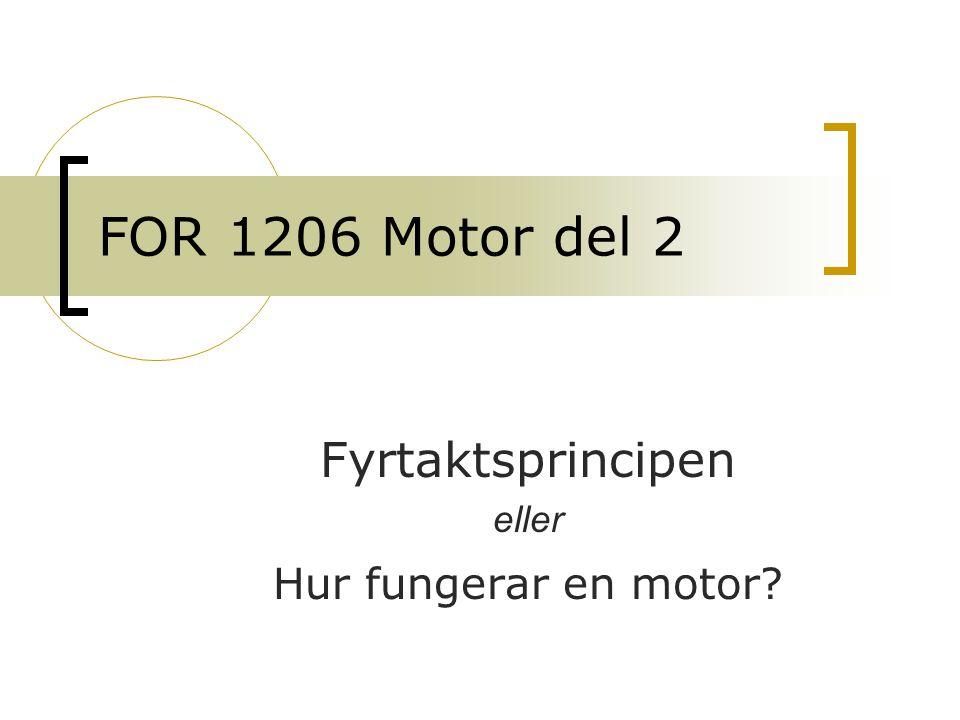 Fyrtaktsprincipen eller Hur fungerar en motor
