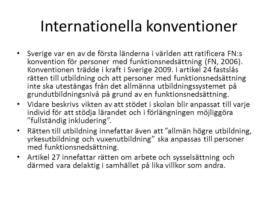 Internationella konventioner