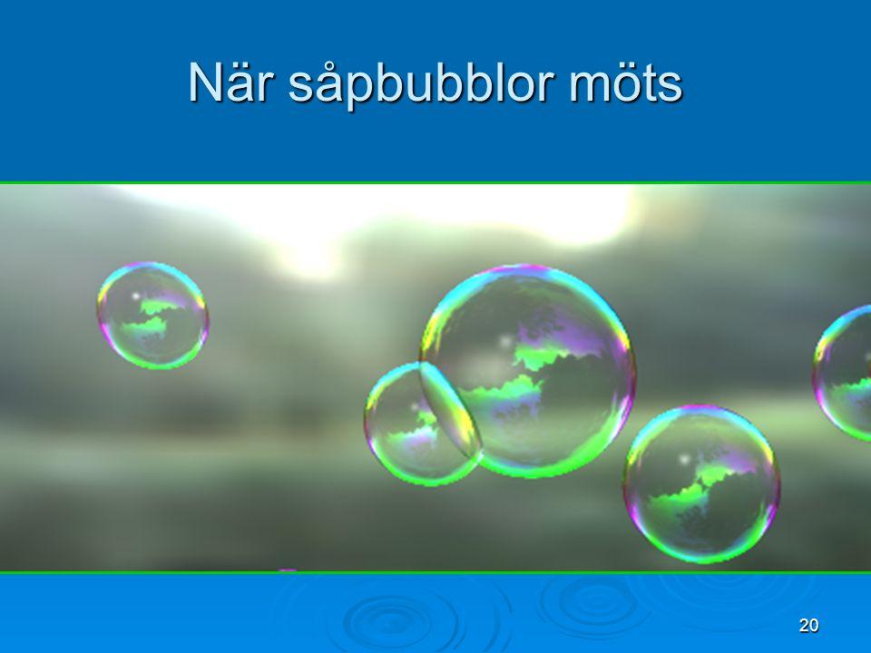 När såpbubblor möts