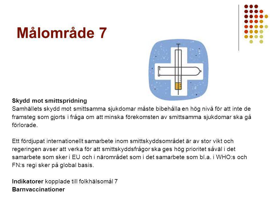 Målområde 7 Skydd mot smittspridning
