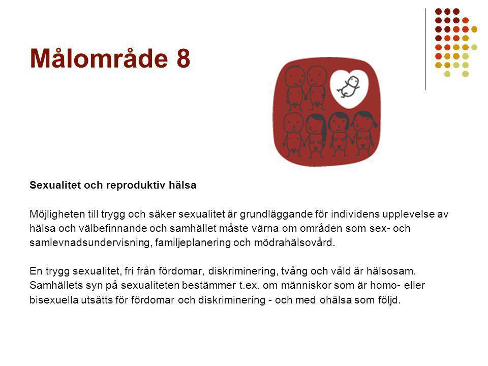 Målområde 8 Sexualitet och reproduktiv hälsa