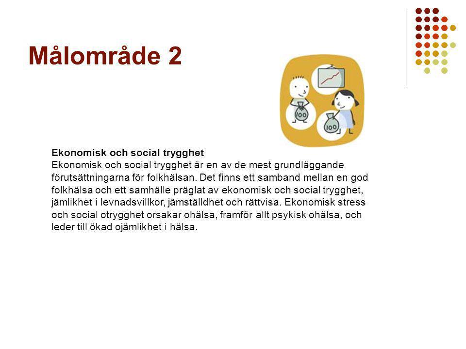 Målområde 2 Ekonomisk och social trygghet