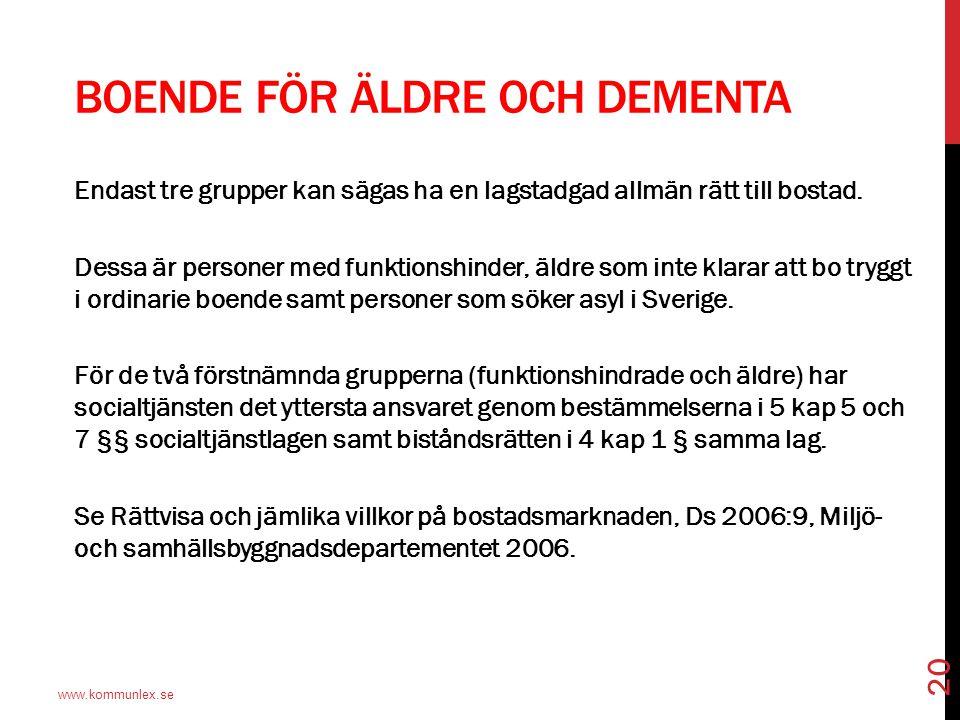 Boende för äldre och dementa
