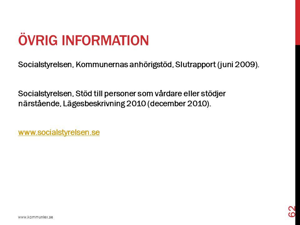Övrig information
