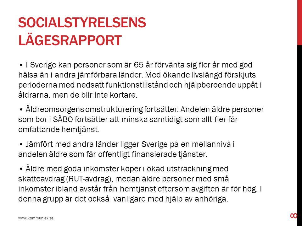 Socialstyrelsens lägesrapport