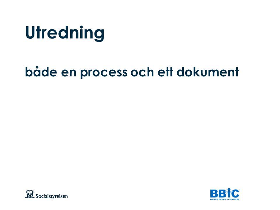 Utredning både en process och ett dokument