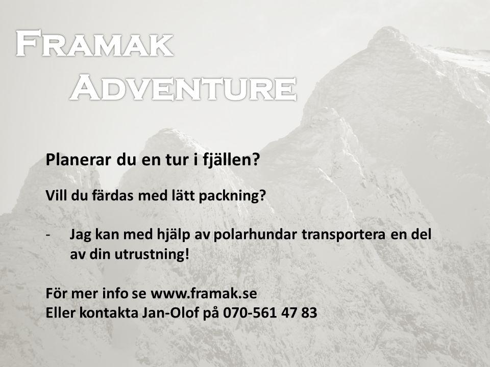 Framak Framak Adventure Adventure Skidtur i Sundsvall med polarhundar!