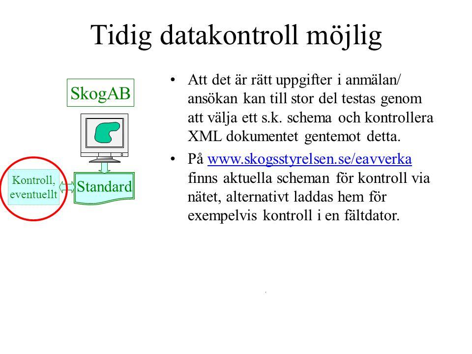 Tidig datakontroll möjlig
