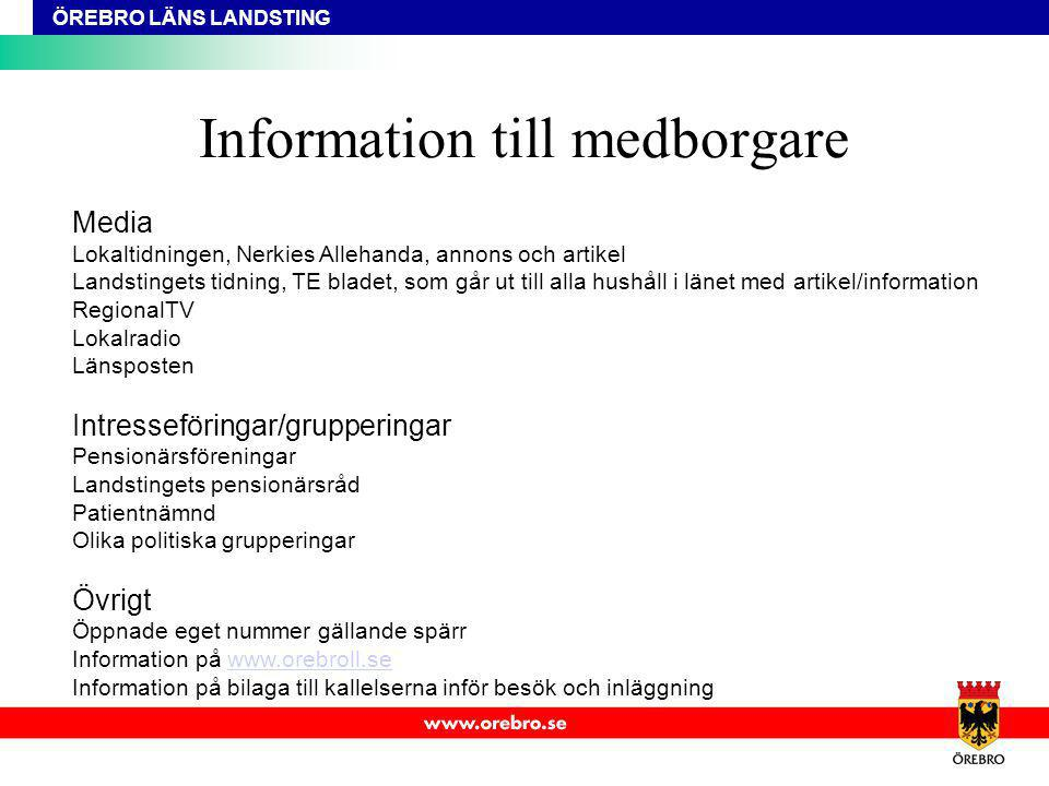 Information till medborgare