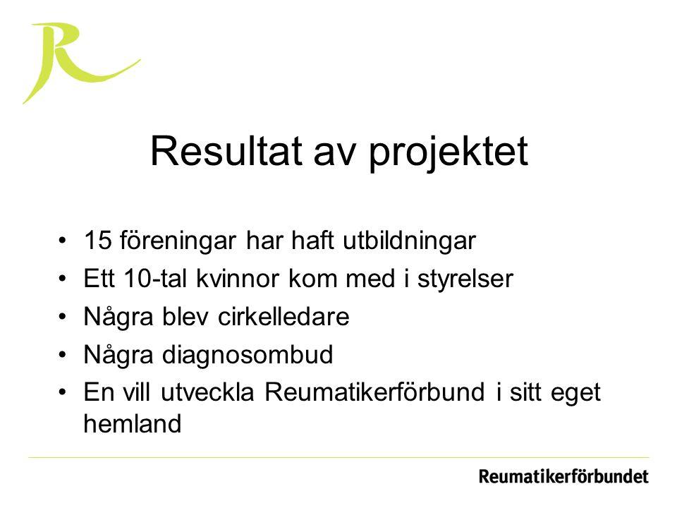 Resultat av projektet 15 föreningar har haft utbildningar