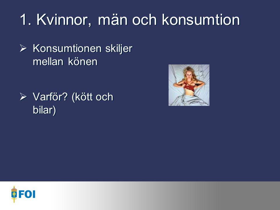1. Kvinnor, män och konsumtion